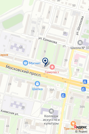 АПТЕЧНЫЙ ПУНКТ ДЛК на карте Брянска