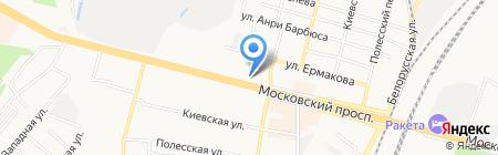 Банкомат Московский Индустриальный Банк на карте Брянска