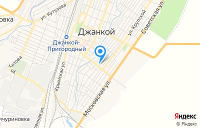 Местоположение на карте пункта техосмотра по адресу Респ Крым, г Джанкой, ул Ленина, зд 44Д/7