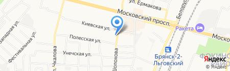 Амадей на карте Брянска