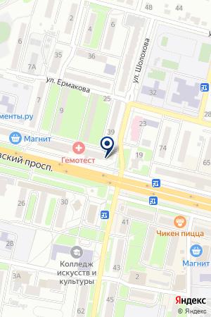 НОТАРИУС БРЯНСКОГО НОТАРИАЛЬНОГО ОКРУГА (ФОКИНСКИЙ РАЙОН) на карте Брянска