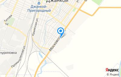 Местоположение на карте пункта техосмотра по адресу Респ Крым, г Джанкой, ул Московская, д 188