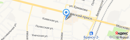 Библиотека №3 на карте Брянска