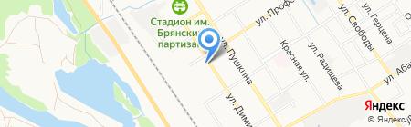 Юность России на карте Брянска