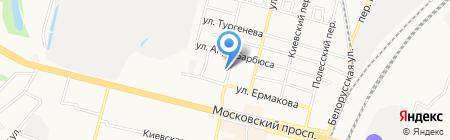 Столичный Строитель на карте Брянска