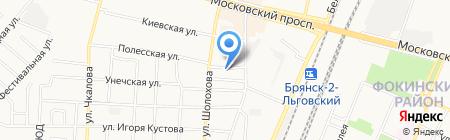 Перигей на карте Брянска