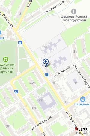 АПТЕКА РИТМ на карте Брянска