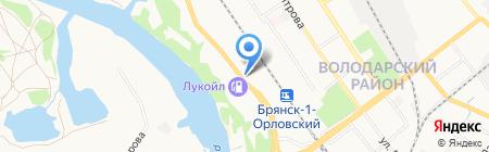 Эскорт-плюс на карте Брянска