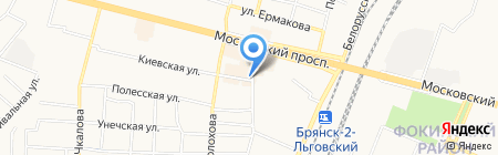 Зоомир+Цветы на карте Брянска