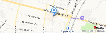Банкомат АКБ МОСОБЛБАНК на карте Брянска