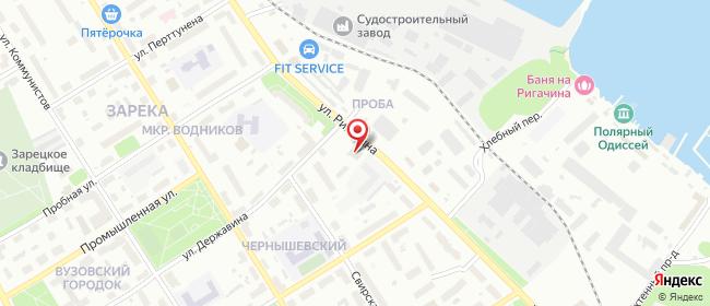 Карта расположения пункта доставки Петрозаводск Ригачина в городе Петрозаводск