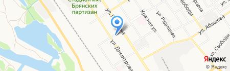 Вишневый павильон на карте Брянска