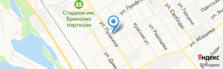 Ремонтная мастерская на карте Брянска