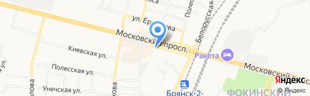 Магазин цветов на Московском проспекте на карте Брянска