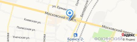 Ивановский текстиль на карте Брянска