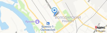 Володарский рынок на карте Брянска