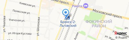 Дачница на карте Брянска