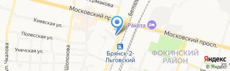 Парикмахерская на Белорусской на карте Брянска