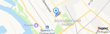 Фрегат на карте Брянска
