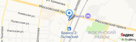 Гримёрка на карте Брянска
