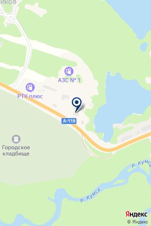 АЗС ТОПЛИВНАЯ КОМПАНИЯ на карте Медвежьегорска