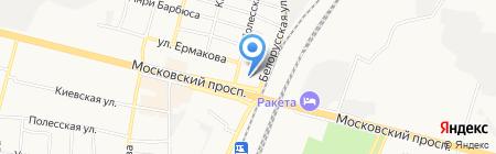 Фокинский рынок на карте Брянска