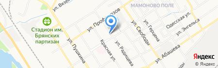 Общежитие на ул. Клары Цеткин на карте Брянска