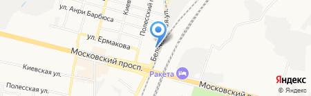 Центр шиномонтажа на Белорусской на карте Брянска