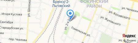 Железнодорожная торговая компания на карте Брянска