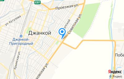 Местоположение на карте пункта техосмотра по адресу Респ Крым, г Джанкой, ул Толстого, д 64