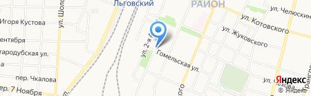 Спартак на карте Брянска