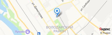 Хлебозавод №1 на карте Брянска