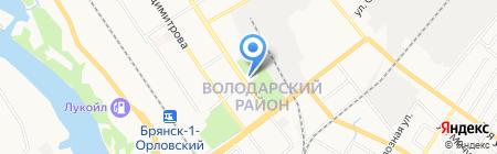 Юность на карте Брянска