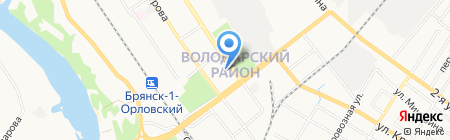 Детский сад №183 на карте Брянска