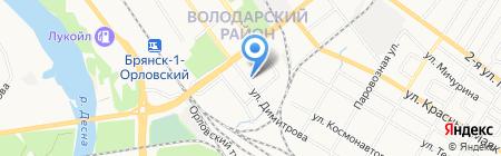 Магазин бытовой химии на ул. Димитрова на карте Брянска