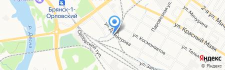 Газпром газораспределение Брянск на карте Брянска