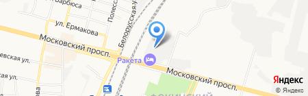 Фанерный двор на карте Брянска