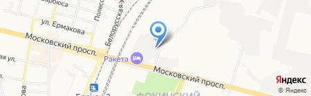 Цветочный сад на карте Брянска