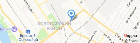 Секонд-хенд на Никитина на карте Брянска
