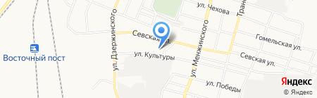 Брянск-Лада на карте Брянска