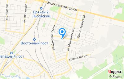 Местоположение на карте пункта техосмотра по адресу г Брянск, ул Культуры, д 1А