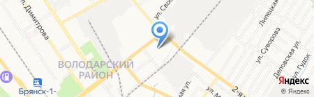 Багира на карте Брянска
