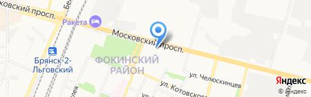 Комплексный центр социального обслуживания населения Фокинского района на карте Брянска