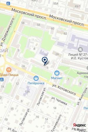 ДОПОЛНИТЕЛЬНЫЙ ОФИС № 0139 БРЯНСКОЕ ОТДЕЛЕНИЕ № 8605 СБЕРБАНК РОССИИ на карте Брянска