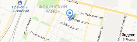 Банька на дровах на карте Брянска