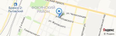 Мастерская по ремонту часов на карте Брянска