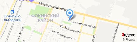 Администрация Фокинского района на карте Брянска