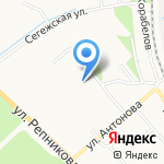 Средняя общеобразовательная школа №3 с углубленным изучением иностранных языков на карте Петрозаводска