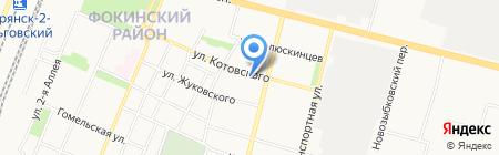 Фортуна на карте Брянска