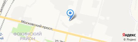 Сорока на карте Брянска